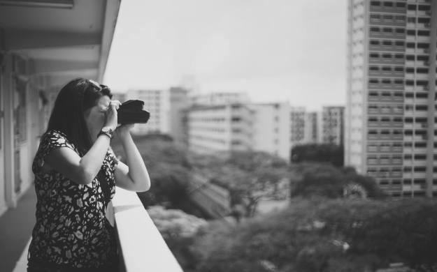 Sandra w Polaroid Spectra (Deon's camera)